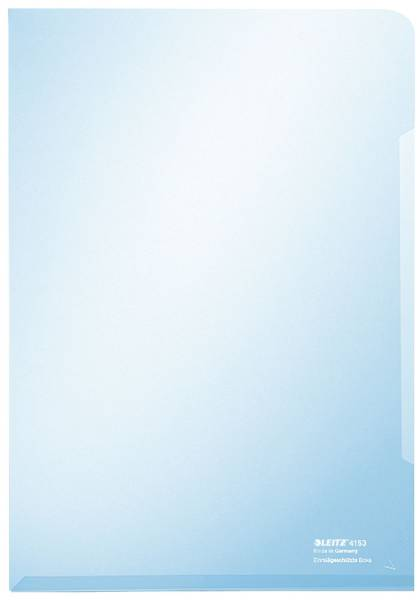 4153 Sichthülle Super Premium, A4, PVC, dokumentenecht, blau