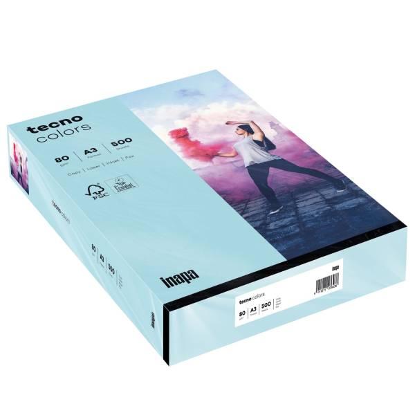 TECNO Kopierpapier Colors A3 80g 500BL m.blau 2100011441