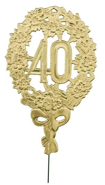 Jubiläumszahl 40 gold