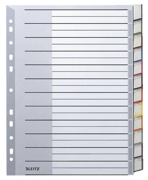 1274 Register PP, blanko, A4 Überbreite, 12 Blatt, grau