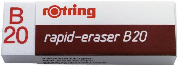 Radierer rapid eraser B20, Polyvynilchlorid, 22 x 66 x 13 mm