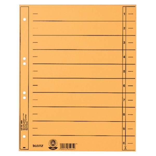 Trennblatt A4 gelb ungeöst