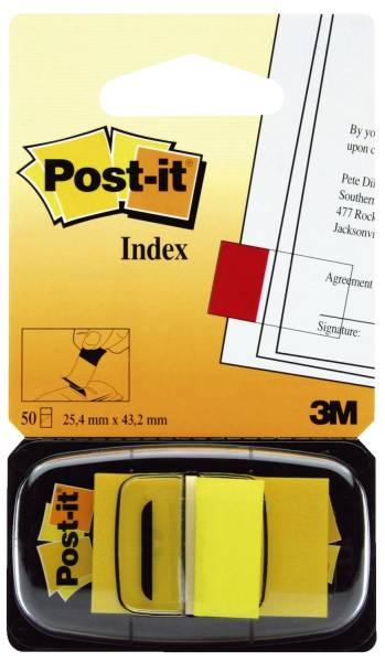 Index Standard Typ 680 25,4 x 43,2 mm, gelb