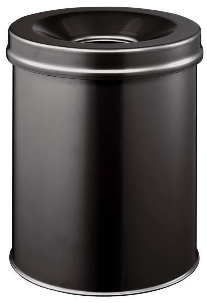 Papierkorb Safe rund 15 Liter, schwarz