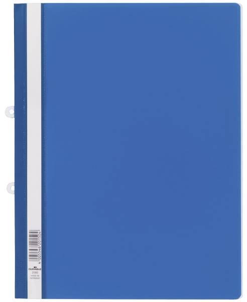DURABLE Schnellhefter A4 überbreit blau 2580 06 Plastik