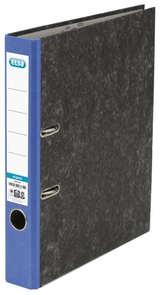 Ordner smart Original Wolkenmarmor, A4, 50 mm, blau