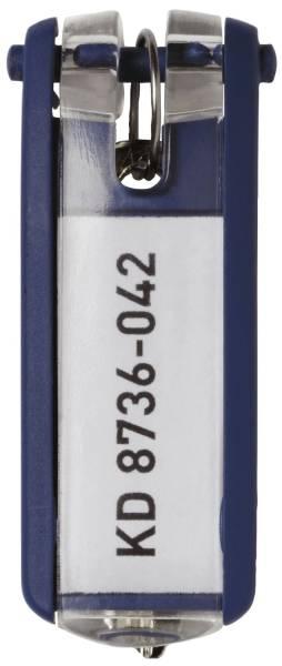 DURABLE Schlüsselanhänger d.blau 1957 07 6ST KEY CLIP