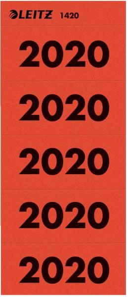 LEITZ Inhaltsschildchen 2020 100ST rot 1420-00-25