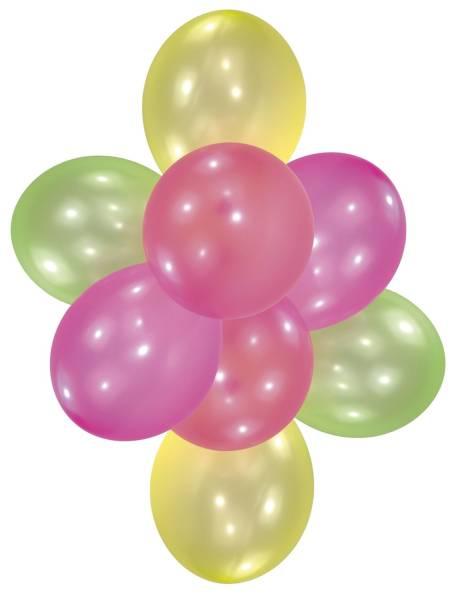 Luftballon Neon 10 Stück, sortiert