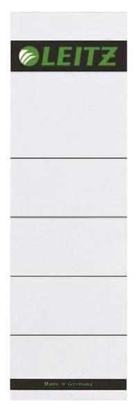 1607 Rückenschilder zum Einstecken Karton, kurz breit, 10 Stück, lichtgrau