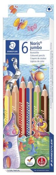 Farbstift Noris Club jumbo 4 mm, dreikant, Kartonetui mit 6 Farben®