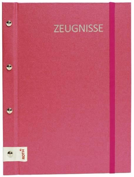 ROTH Zeugnismappe A4 Metallium pink 88563 inkl. 12 Hüllen