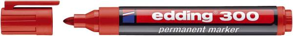 EDDING Permanentmarker 300 1,5-3mm rot 4-300002 Rundspitze nachfüllbar
