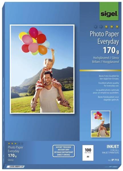 SIGEL Inkjet Fotopapier A4 100BL ws IP715 Everyday 170g