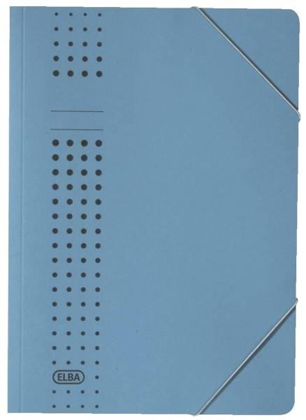 Eckspanner chic, Karton (RC), 320 g qm, A4, blau