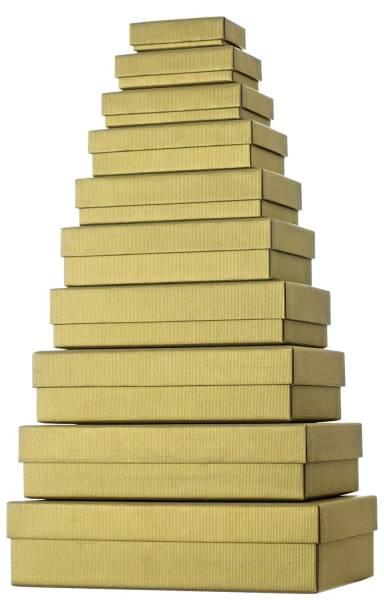 Geschenkkarton 10 tlg , flach, gold