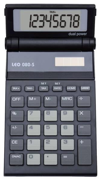 Solar Taschenrechner 080S, anthrazit, 8 stellig