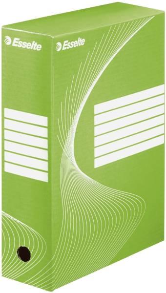 Archiv Schachtel DIN A4, Rückenbreite 10 cm, grün