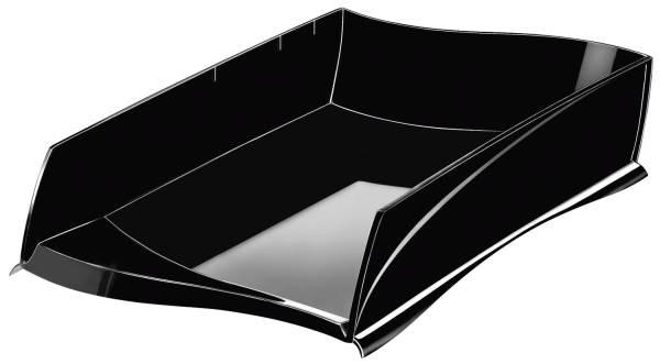 Briefkorb Ellypse A4 C4, schwarz