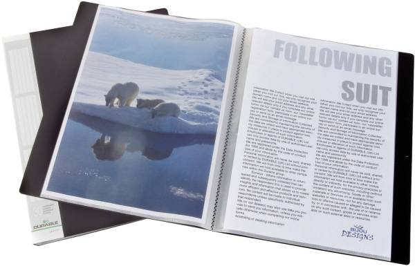 DURABLE Sichtbuch A4 schwarz 2423 01 30 Hüllen