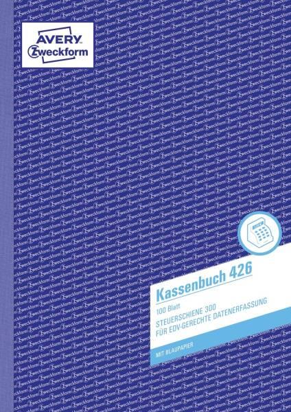 426 Kassenbuch, DIN A4, nach Steuerschiene 300, 100 Blatt, weiß