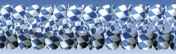 Girlande Bayern weiß blaue Rauten, 4 m