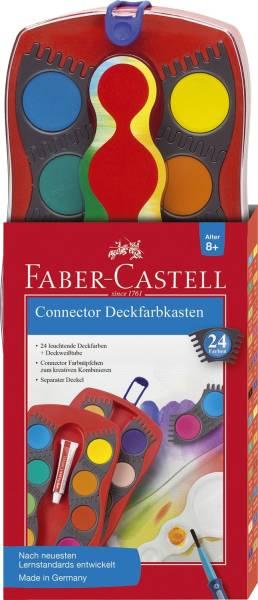CONNECTOR Farbkasten 24 Farben, inkl Deckweiß