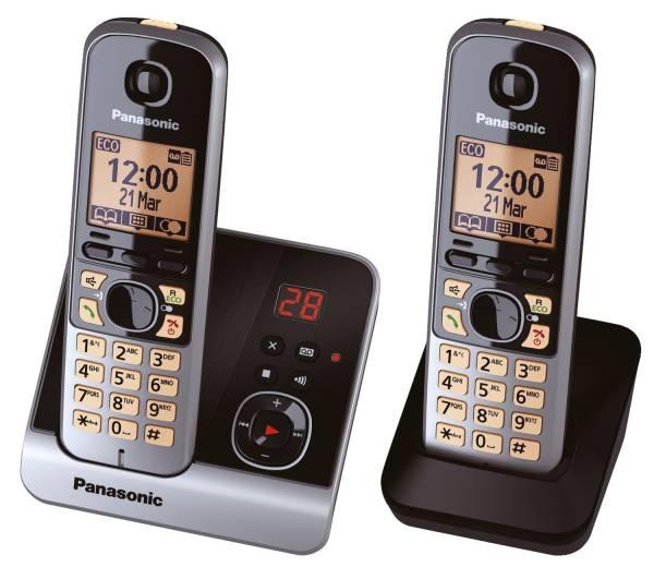 Telefon KX TG6722G schnurlos titan schwarz