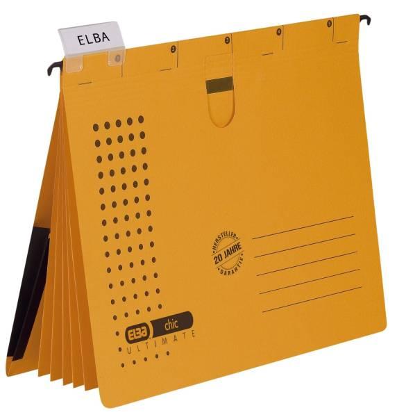 Organisationshefter chic Karton (RC) 230 g qm, A4, gelb, 5 Stück