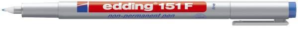 EDDING Folienstift 151F blau 151 003 non permanent