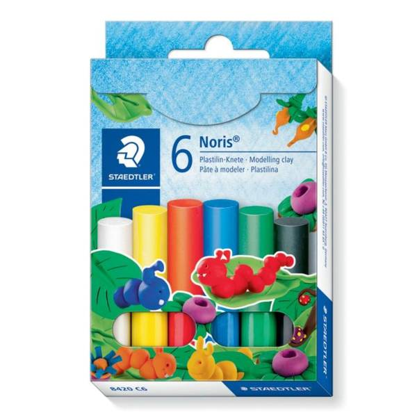 Plastilin Knete Noris Club 6 Farben in Kartonetui®