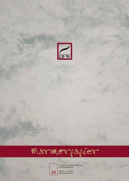 DFW Briefblock A4 90g grau 880101 40Bl.unlin.Marmor