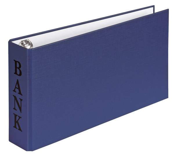 Bankordner BANK A6, 2 D Ring Mechanik 30 mm, blau