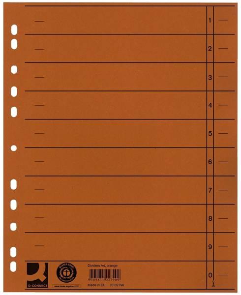 Trennblätter durchgefärbt A4 Überbreite, orange, 100 Stück