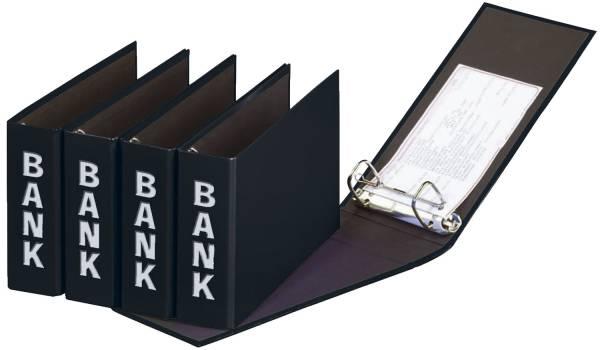 Bankordner Color Einband A5 , 50 mm, Color Einband, schwarz