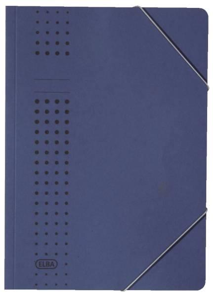 Eckspanner chic, Karton (RC), 320 g qm, A4, dunkelblau