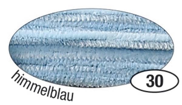 Chenilledraht 8 mm, 10 Stück, hellblau