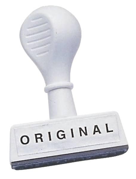 Stempel Text Original Abdruck 45 mm