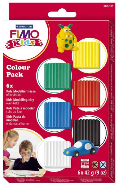 Modelliermasse kids Colour pack basic, Kunststoff, 6 x 42g®