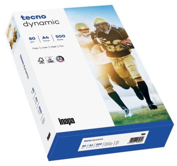 TECNO Kopierpapier Dynamic 80g A4 500BL weiß 2100011483 161 CIE-Weiße