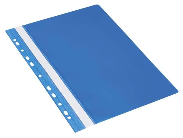 Schnellhefter A4, Multilochung, PVC, blau