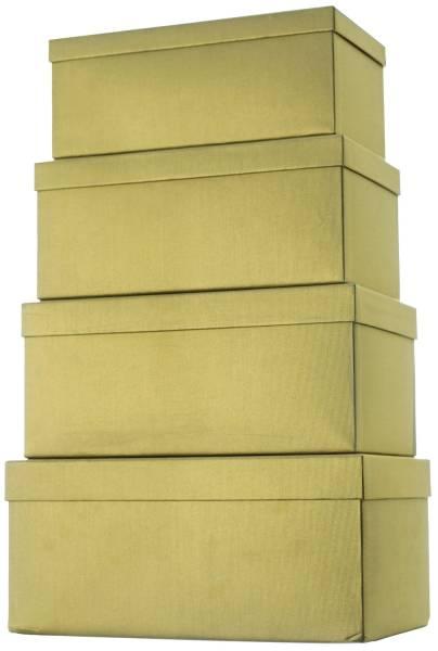 Geschenkkarton 4 tlg , hoch, gold