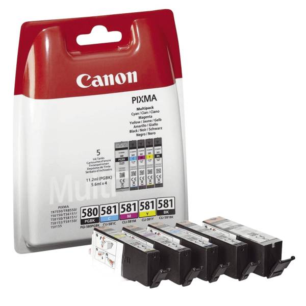 CANON Multi Pack PGI-580PGBK/CLI-581 5ST 2078C005