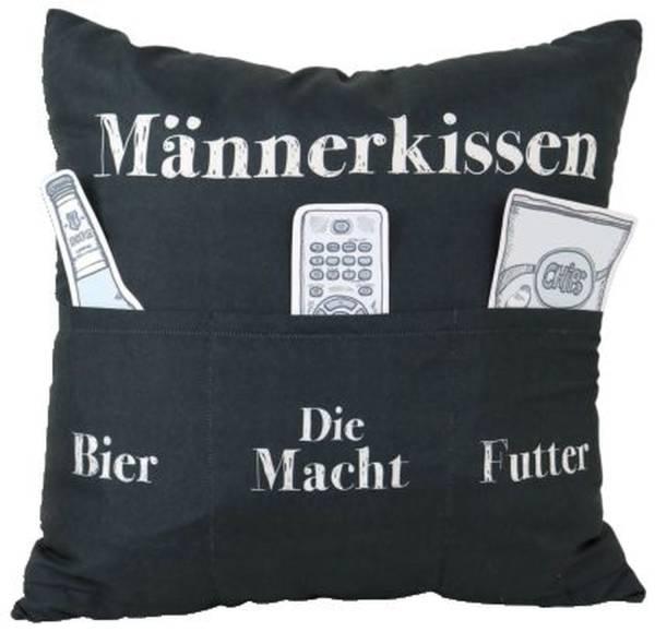 HERGO Kissen m.Taschen Männerkissen 8801 Sofahelden