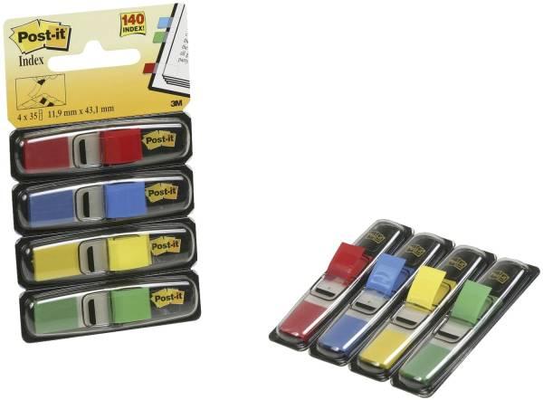 Index Mini Typ 683 11,9 x 43,2 mm, Grundfarben: blau, gelb, grün, rot