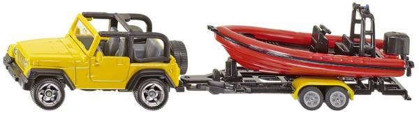 SIKU Jeep mit Boot 1658