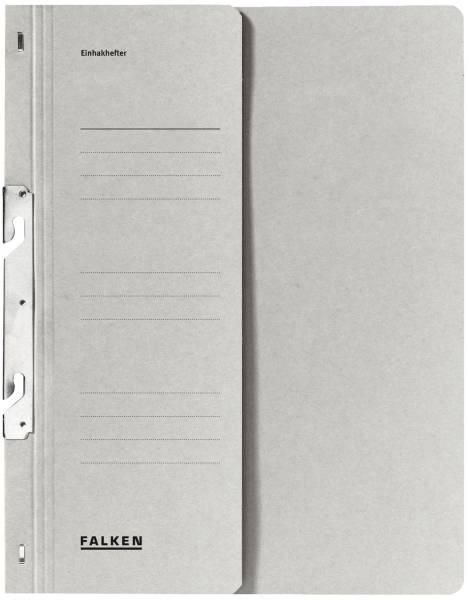 Einhakhefter A4 1 2 Vorderdeckel kfm Heftung, grau, Manilakarton, 250 g qm
