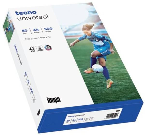 TECNO Kopierpapier Universal 80g A4 500BL weiß 2100011548 153 CIE-Weiße