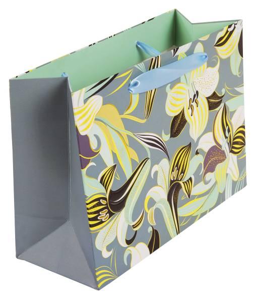 TURNOWSKY Geschenktragetasche Essence grün 46670 25x18x10cm