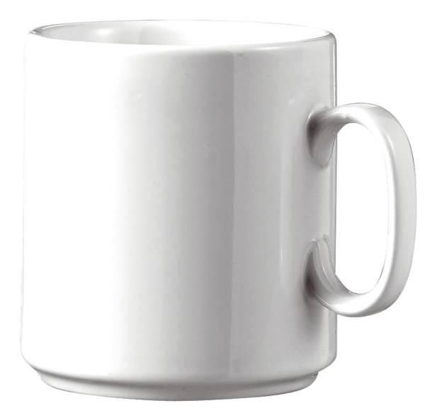 Kaffeebecher Diane 0,28 l, Ø 8,1 cm, Porzellan, weiß, 6 Stück